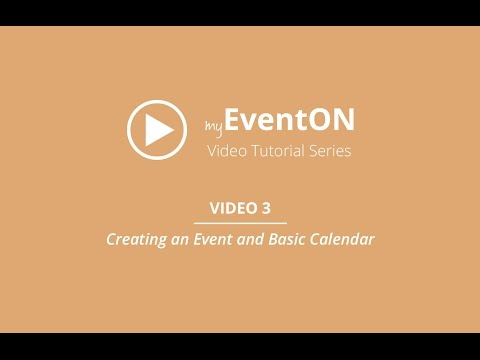 EventOn - Video 3 - Creating an Event and Basic Calendar