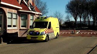 A1 Ambulances (NIEUWE) 10-190 en 13-195 met spoed in Avenhorn