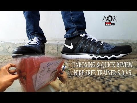 812308fc929 Unboxing Nike Free Trainer 5 v6 Indonesia - YouTube