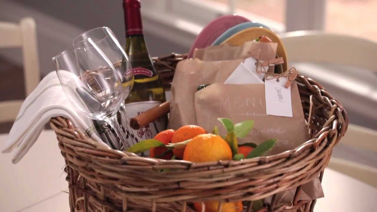 How to make personalized easter picnic baskets pottery barn youtube negle Choice Image