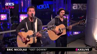 "Eric Nicolau Performs ""Get Down"" on AXS Live"