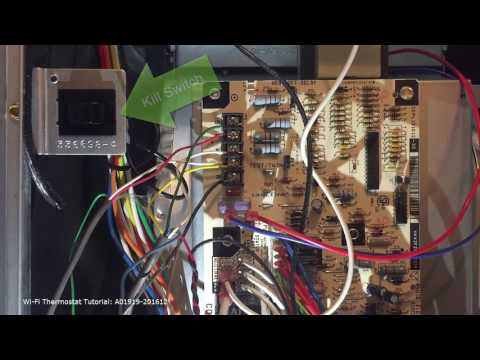 5 Wire Installation Video Updated - YouTube Installing Vine Thermostat on