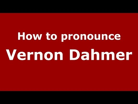 How to pronounce Vernon Dahmer (American English/US)  - PronounceNames.com