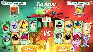 Angry Birds 2 - THE ARENA BATTLE! OWNING TIME WITH POWER UP!