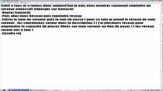 [TUTO]Rejoindre un serveur MineCraft via un réseau Hamachi