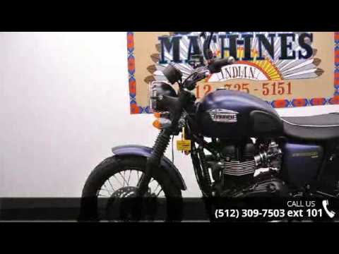 2015 Triumph Scrambler Matte Pacific Blue  - Dream Machin...