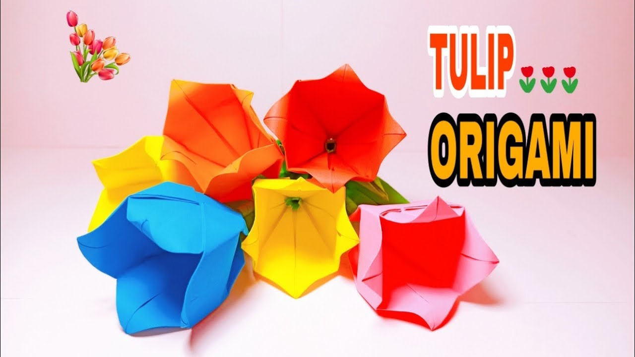 Origami Tulip Flower - How To Make Origami Tulip - Tala Art And Craft