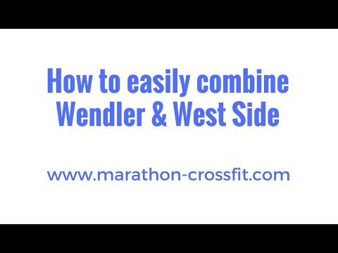 How to combine Jim Wendler 5/3/1 and the westside method