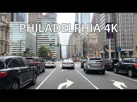 Philadelphia 4K - Driving Downtown USA