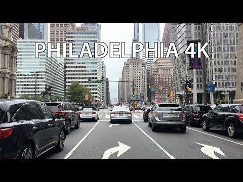 Philadelphia 4K - Downtown Drive - USA