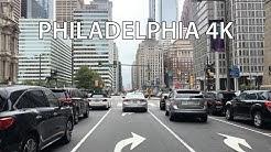 Philadelphia 4K - Driving Downtown USA