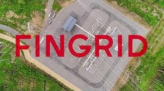 Drone-kaukokartoitus Fingridin Kiikanlahden sähköasemalla