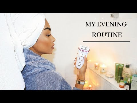 MY EVENING ROUTINE | BEST AT HOME HAIR REMOVAL #ad | SABINA HANNAN