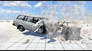 ARABALAR PARAMPARÇA OLUYOR. (Araba Oyunu) - BeamNG.drive