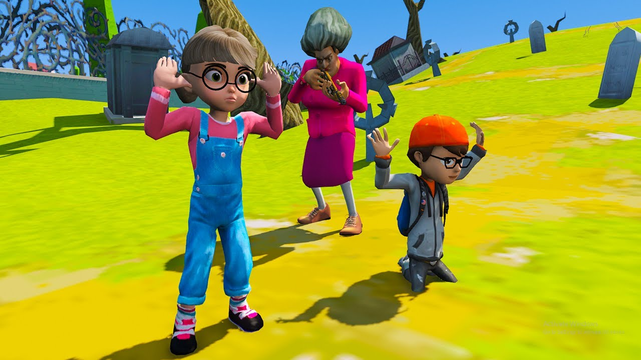 Download Scary Teacher 3d - Spiderman with Nick and Tani, Miss'T  Plan - Game Animation