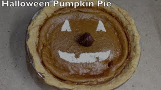 Fresh Pumpkin Pie Halloween  Thermochef Video Recipe Cheekyricho