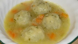 Easy Soup with Parsley Dumplings Recipe - How to make (Vegetarian)