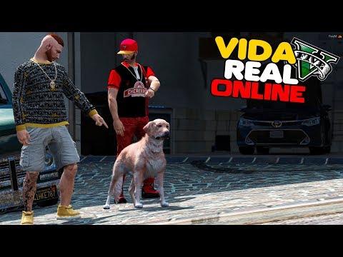 GTA V : VIDA REAL - ADOTEI UM CACHORRO PRA MINHA CASA !  #517