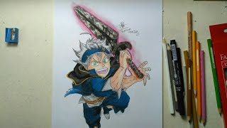 Speed Drawing Asta (Black Clover)- Menggambar