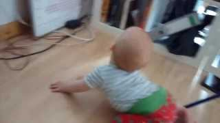 Little Baby head banging to Monster Magnet