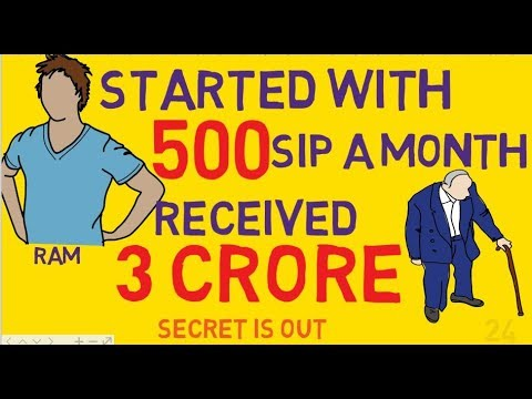 Invest Rs.500 Per Month And Get 3 crore Rs. How to invest in Sip