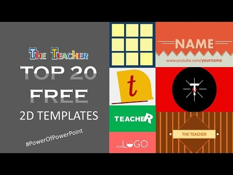 Top 20 Best Free 2D Youtube Intro Templates | PowerPoint 2016 Motion Graphics | The Teacher