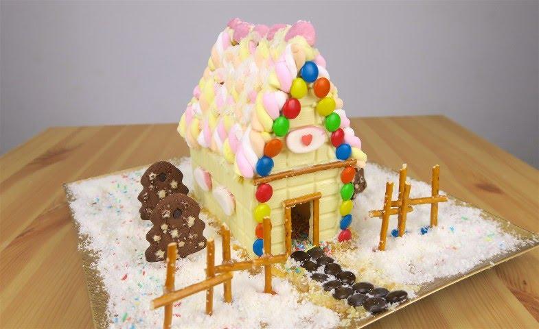 Casetta Di Natale Di Cioccolato : Come realizzare una casetta di zucchero youtube