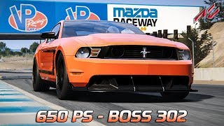 650 PS! Ford Mustang Boss 302 650 HPE | Assetto Corsa German Gameplay [GER] [HD] Laguna Seca