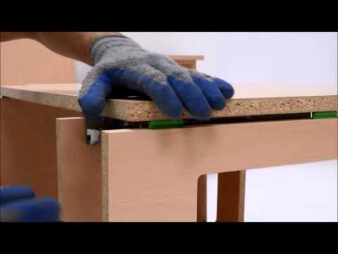 Assemble a base cabinet with Lockdowel EClips fasteners