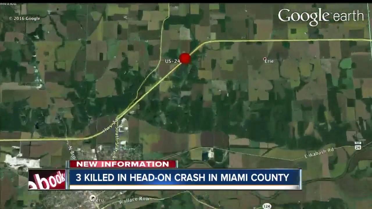 Three People Killed In Headon Crash In Miami County YouTube - Us counties google earth
