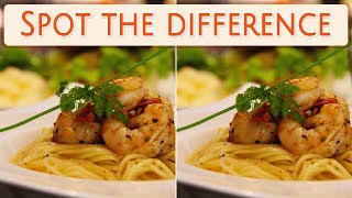 [ Brain games ] ( 3 ) Ep.011 Food_meal_pasta_01 | Spot the difference | photo puzzles | Healing