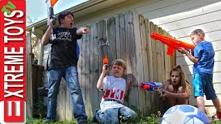 Soccer Ball Rescue! Nerf Battle With The Super Hero Kids!