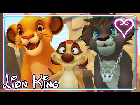 Kingdom Hearts 2 All Cutscenes | Game Movie | The Lion King ~ Pride Lands