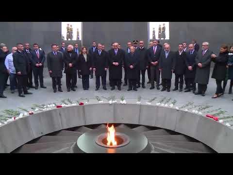 Президент Ливана отдал дань уважения памяти жертв Геноцида армян Online Video Cutter Com
