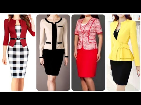 Outstanding Women Elegant Jacket Style Bodycone Business Dresses Formal Blazer Office Lady Suit