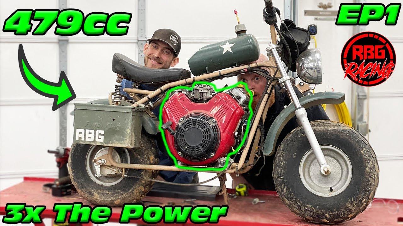 479cc v twin coleman ct200u ex mini bike upgrade ep1