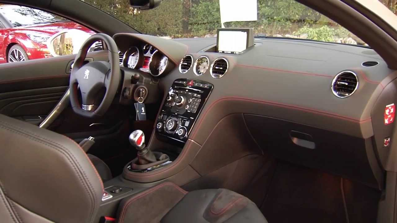 peugeot rcz r interior design automototv youtube