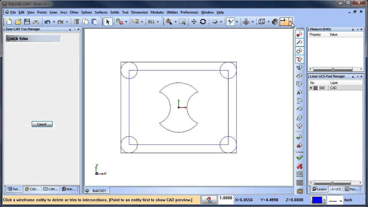 Wire Frame to Solid BobCAD CAM V28 CAD