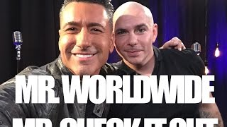 Pitbull's non stop hustle. Mr. Check it out and Mr. Worldwide.