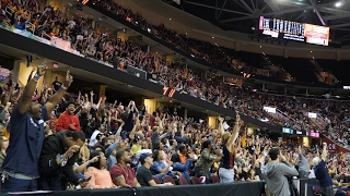 Fans go crazy at the Q as J.R. Smith hits halftime buzzer beater in Game 2 against Celtics