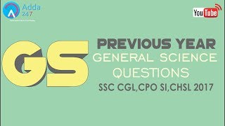 Previous Year General Science Questions Of SSC CGL,CPO SI,CHSL Online SSC CGL Coaching