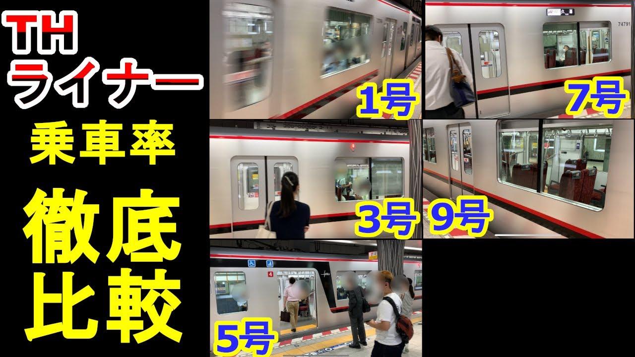 【帰宅ラッシュ】平日下りのTHライナー 乗車率を調べてみた @日比谷線上野駅
