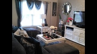 Living room tour glamourous,blingy budget friendly