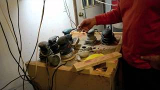 Inside The Luthier's Shop: Sanding Station For Custom Guitar Work Downdraft Table