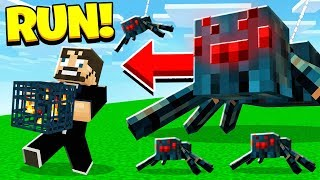 Building a SPIDER FARM in Hardcore MINECRAFT