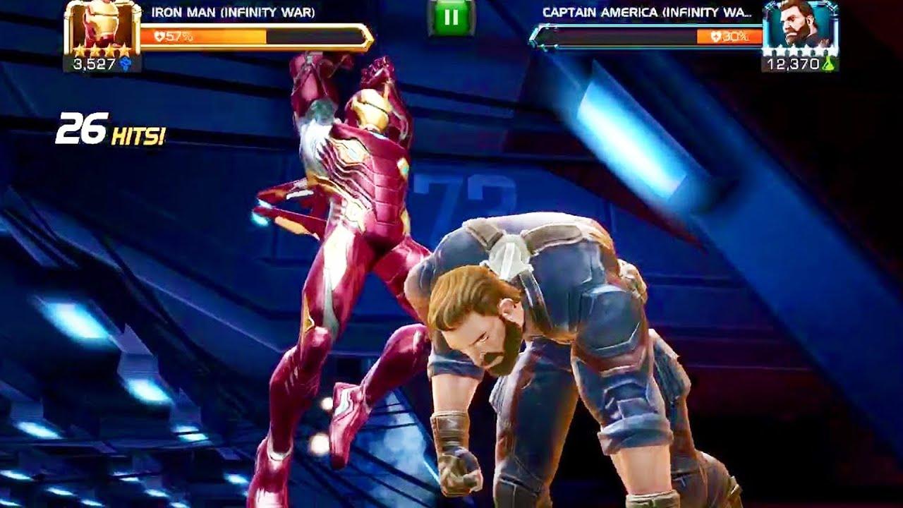 Marvel Contest of Champions: Iron Man (Infinity War) Vs Captain America  (Infinity War) - YouTube