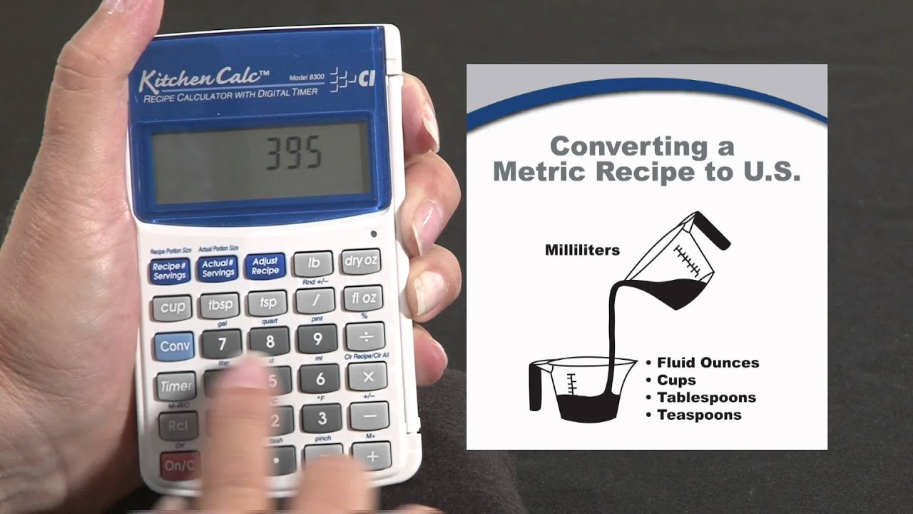 kitchen calc pro converting a metric recipe how to youtube
