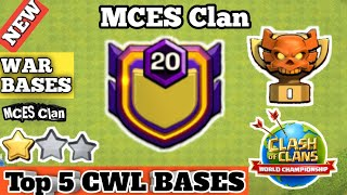 MCES CWL Bases July 2020 | Top 5 MCES Clan Base Th13 | New TownHall13 War Base