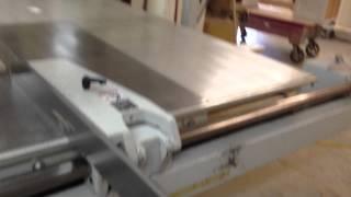 Kolle/ Koelle Sliding Table Panel Saw Servo 2001 Video