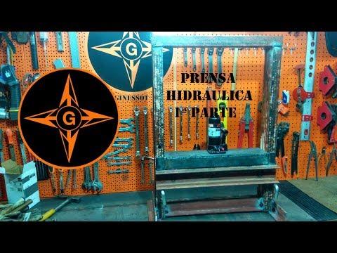 PRENSA HIDRAULICA CASERA , 1ª parte  How To Make Hydraulic Press Machine    DIY Mini Hydraulic Press